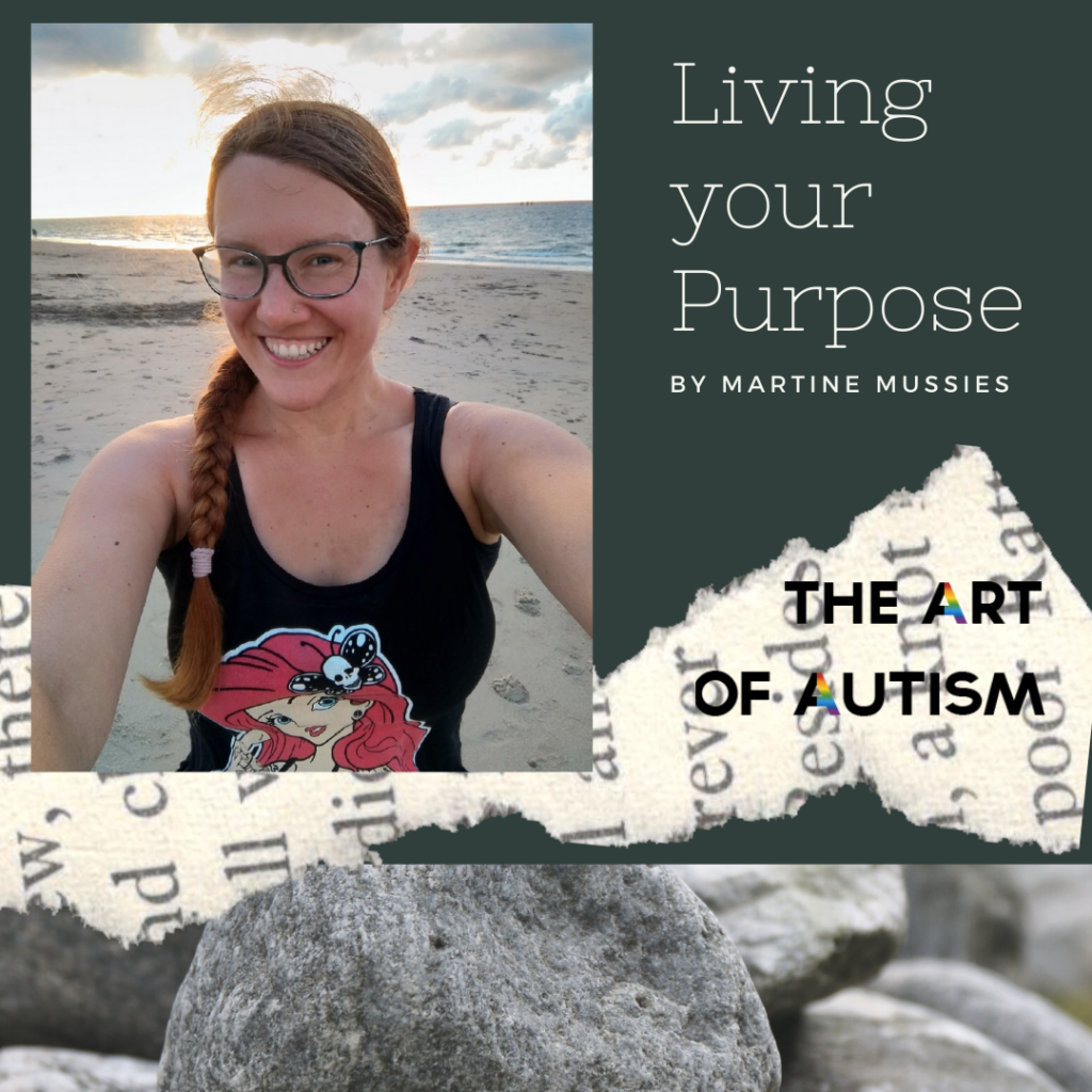 Living your purpose - instagram image. Martine Mussies. Happiness. Sea. Rocks.
